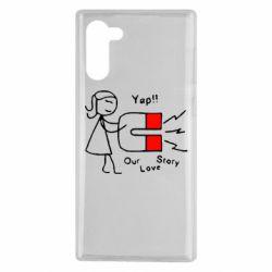 Чехол для Samsung Note 10 2302Our love story2