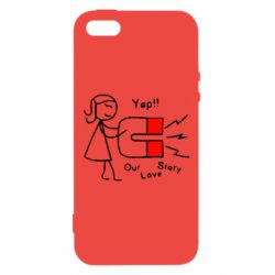 Чехол для iPhone5/5S/SE 2302Our love story2