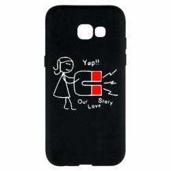Чехол для Samsung A5 2017 2302Our love story2