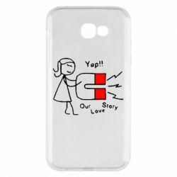 Чехол для Samsung A7 2017 2302Our love story2