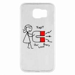Чехол для Samsung S6 2302Our love story2