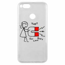 Чехол для Xiaomi Mi A1 2302Our love story2