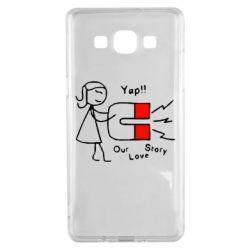 Чехол для Samsung A5 2015 2302Our love story2