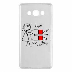 Чехол для Samsung A7 2015 2302Our love story2