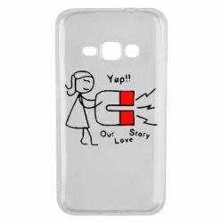 Чехол для Samsung J1 2016 2302Our love story2