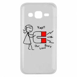 Чехол для Samsung J2 2015 2302Our love story2