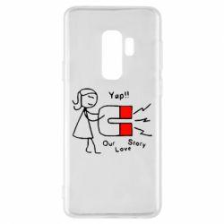 Чехол для Samsung S9+ 2302Our love story2