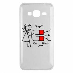 Чехол для Samsung J3 2016 2302Our love story2