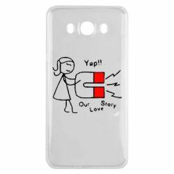 Чехол для Samsung J7 2016 2302Our love story2