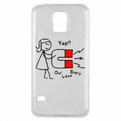 Чехол для Samsung S5 2302Our love story2