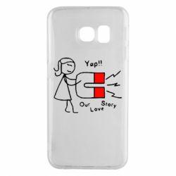 Чехол для Samsung S6 EDGE 2302Our love story2