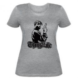 Женская футболка 2pac Thug Life