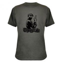 Камуфляжна футболка 2pac Thug Life
