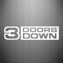 Наклейка 3 Doors down - FatLine
