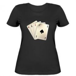 Женская футболка 4 cards - FatLine