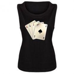 Женская майка 4 cards - FatLine