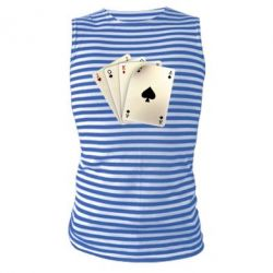 Майка-тельняшка 4 cards