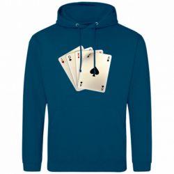 Мужская толстовка 4 cards - FatLine