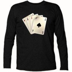 Футболка с длинным рукавом 4 cards - FatLine