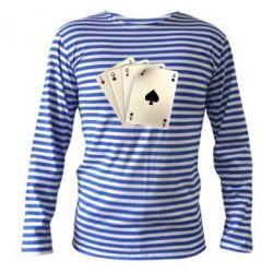 Тельняшка с длинным рукавом 4 cards - FatLine