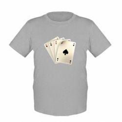 Детская футболка 4 cards - FatLine