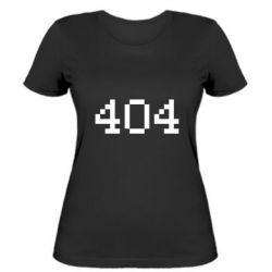 Женская футболка 404