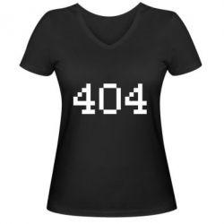 Женская футболка с V-образным вырезом 404