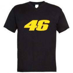 Мужская футболка  с V-образным вырезом 46 Valentino Rossi