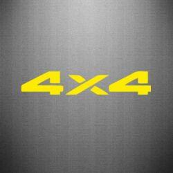 Наклейка 4x4 - FatLine