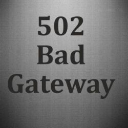 Наклейка 502 Bad Gateway - FatLine