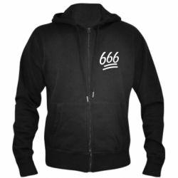 Мужская толстовка на молнии 666