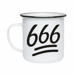 Кружка эмалированная 666