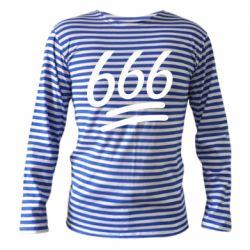 Тельняшка с длинным рукавом 666