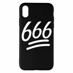 Чехол для iPhone X/Xs 666