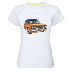 Женская спортивная футболка A car