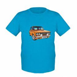 Детская футболка A car