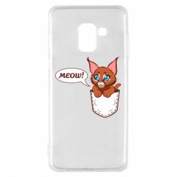 Чохол для Samsung A8 2018 A cat in his pocket