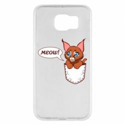 Чохол для Samsung S6 A cat in his pocket