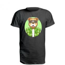 Подовжена футболка A dog with glasses and a shirt