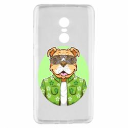 Чохол для Xiaomi Redmi Note 4 A dog with glasses and a shirt