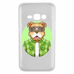 Чохол для Samsung J1 2016 A dog with glasses and a shirt