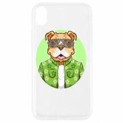 Чохол для iPhone XR A dog with glasses and a shirt
