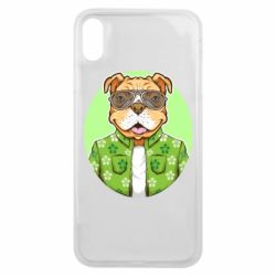 Чохол для iPhone Xs Max A dog with glasses and a shirt