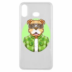 Чохол для Samsung A6s A dog with glasses and a shirt