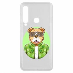 Чохол для Samsung A9 2018 A dog with glasses and a shirt