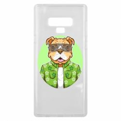 Чохол для Samsung Note 9 A dog with glasses and a shirt