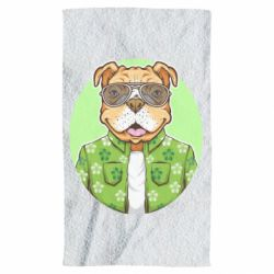 Рушник A dog with glasses and a shirt