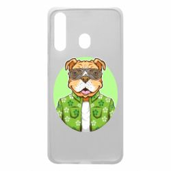 Чохол для Samsung A60 A dog with glasses and a shirt
