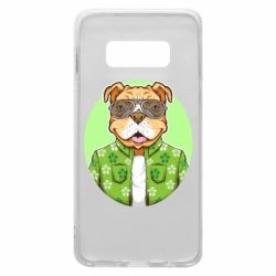 Чохол для Samsung S10e A dog with glasses and a shirt