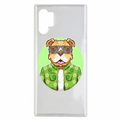 Чохол для Samsung Note 10 Plus A dog with glasses and a shirt